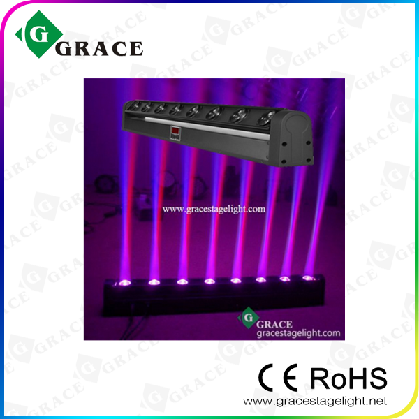 Led帕灯 8x10w Rgbw4in1 Led Moving Beam Wall Washer Gl B8 Grace Stage Lighting Equipment Factory